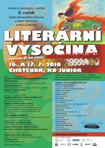 plakát festivalu Literární Vysočina 2010